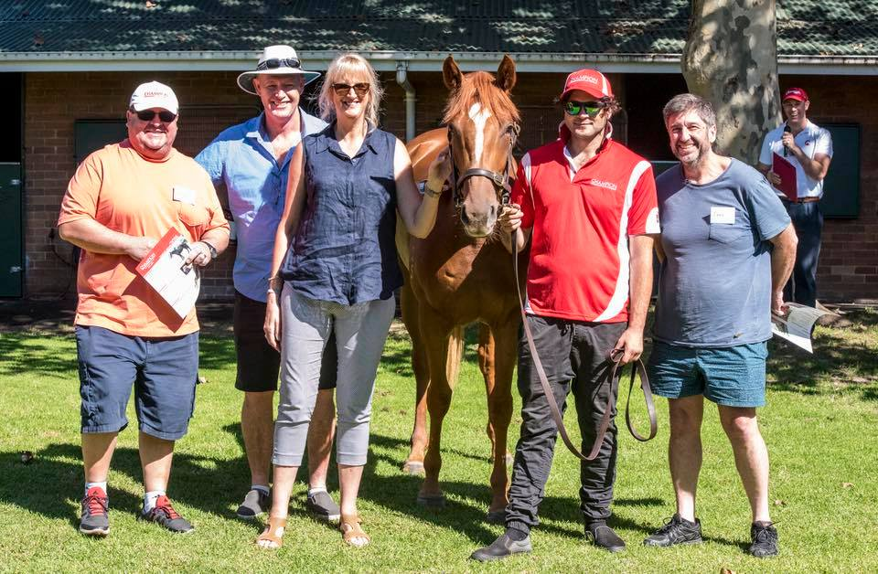 Creative Moss pictured with some of her adoring owners at Sunday's Open Day
